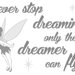 Komar FREESTYLE Sticker für Kinder Disney Never stop dreaming 14001h