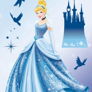 Komar FREESTYLE Sticker für Kinder Disney Princess Dream 14016h