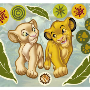 Komar FREESTYLE Sticker für Kinder Simba and Nala 14040h