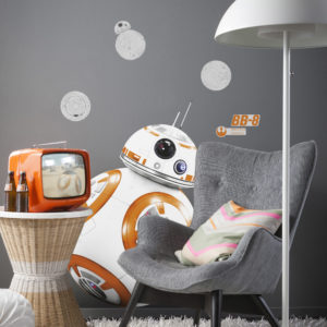 Komar FREESTYLE Sticker für Kinder Star Wars BB-8 14726h