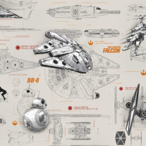Fototapete von Komar Star Wars Blueprints 8-493